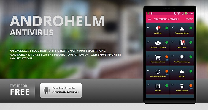Download AndroHelm's Antivirus Security for Android